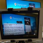 Filming a presentation using periscope on an ipad