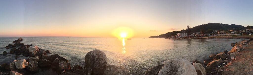 ARgassi beach in Greece at sunrise