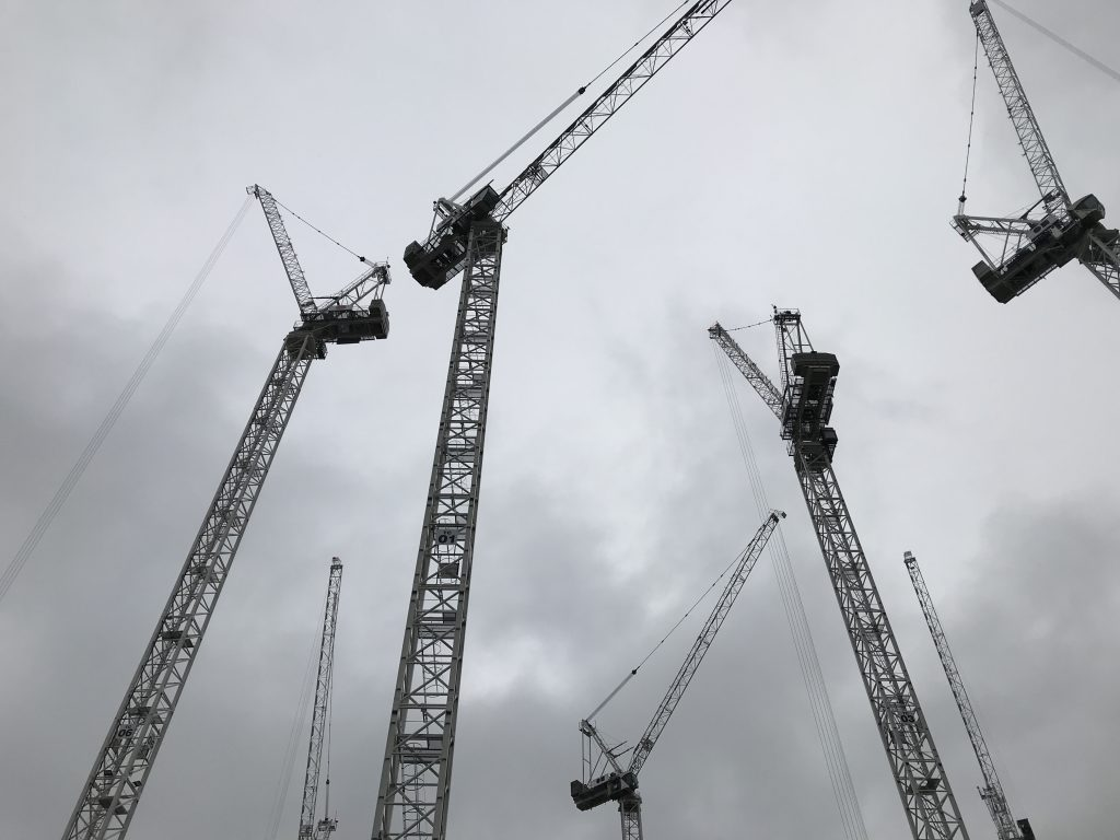 Cranes in Manchester around the ALT-C venue