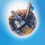 360 degree image of a city