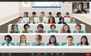 A screengrab of the Zoom virtual classroom