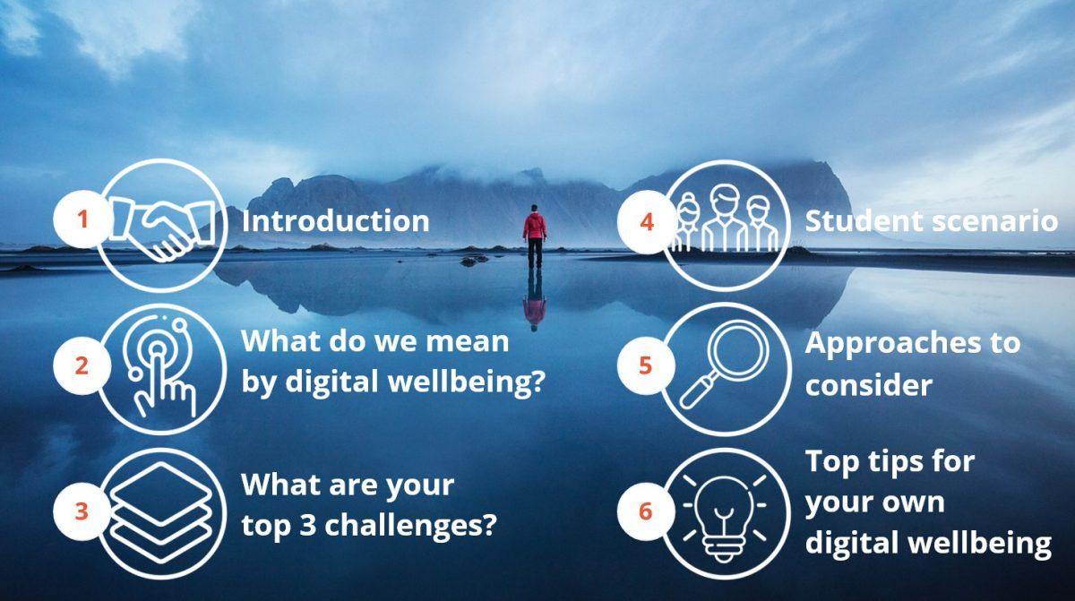 Digital wellbeing taster course homepage