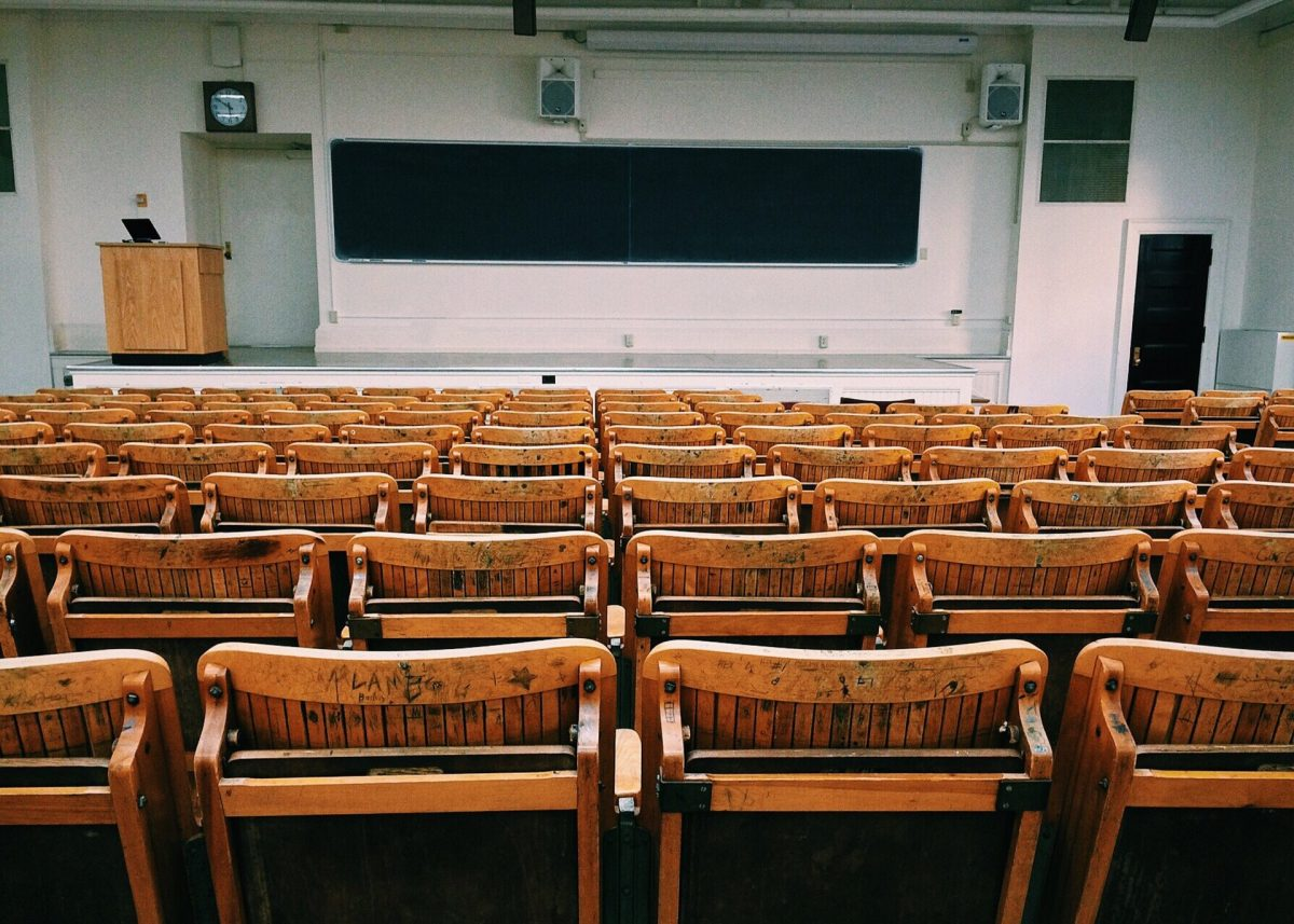 An old-style lecture theatre